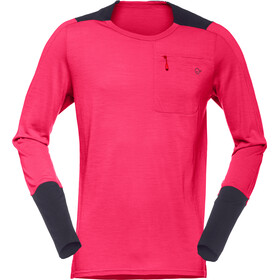 Norrøna Skibotn Wool Equaliser Longsleeve Shirt Heren, jester red